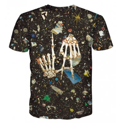 Street Fashion Personality and Creative Skull 3D Printed Short-Sleeved T-Shirt Hot Style