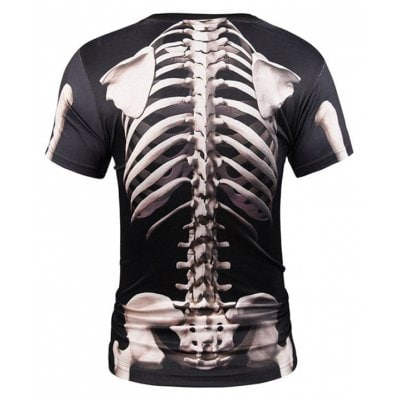 Street Fashion Personality and Creative Skull 3D Printed T-Shirt Hot Style