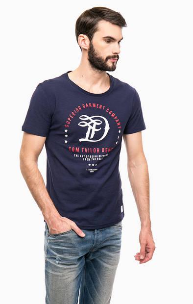 Хлопковая футболка с круглым вырезом