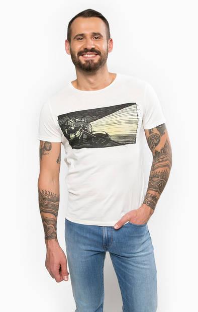 Хлопковая футболка с контрастным принтом